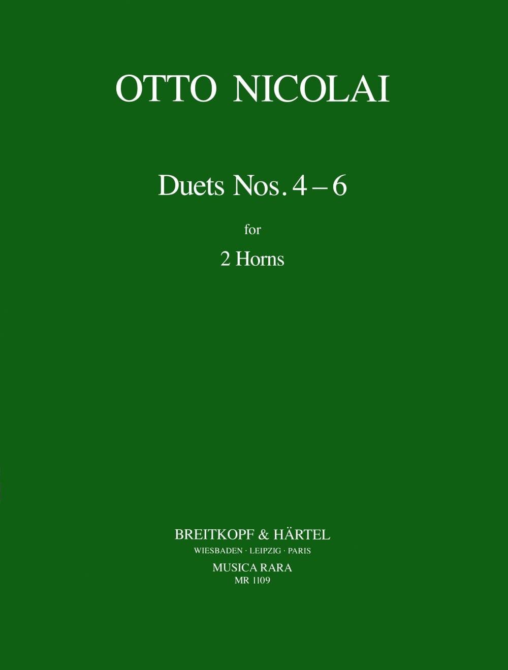 Duets N° 4, 5 & 6 - Otto Nicolai - Partition - Cor - laflutedepan.com
