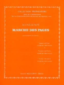 Marche Des Pages Maurice Faillenot Partition Trompette - laflutedepan