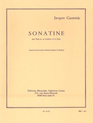 Sonatine Jacques Castérède Partition Tuba - laflutedepan