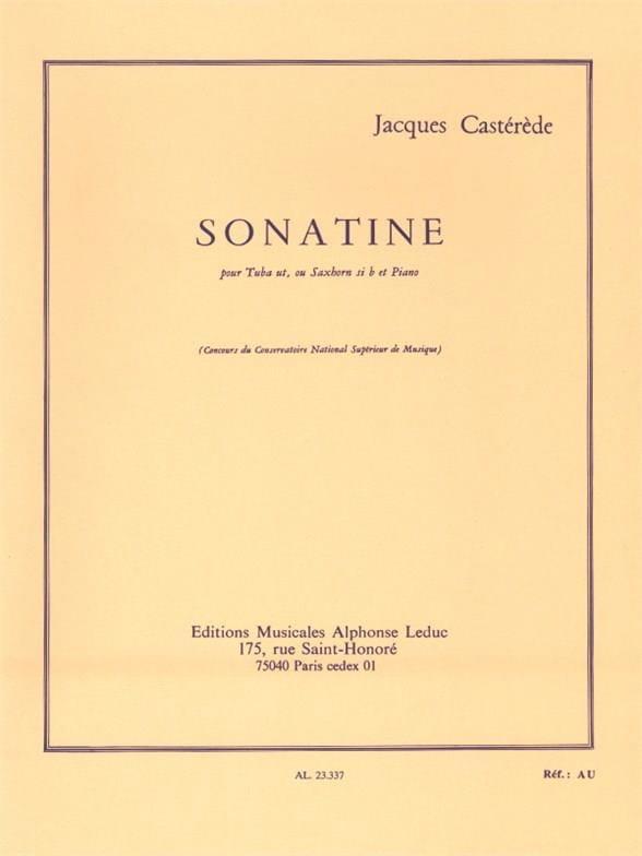 Sonatine - Jacques Castérède - Partition - Tuba - laflutedepan.com