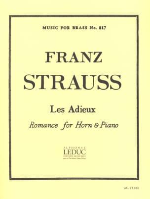 Les Adieux Franz Strauss Partition Cor - laflutedepan