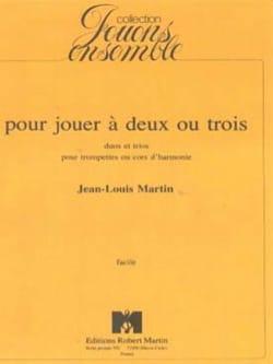 Pour Jouer A Deux ou Trois Jean-Louis Martin Partition laflutedepan