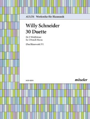 30 Duette - Willy Schneider - Partition - Cor - laflutedepan.com