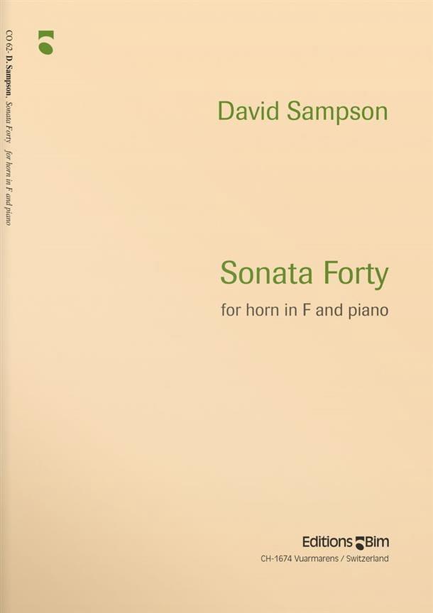 Sonata Forty - David Sampson - Partition - Cor - laflutedepan.com