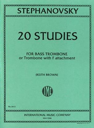 20 Studies K. Stephanovsky Partition Trombone - laflutedepan