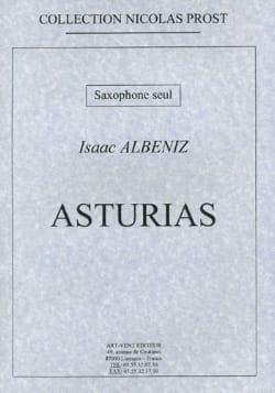 Asturias ALBENIZ Partition Saxophone - laflutedepan