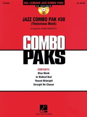 Jazz Combo Pak # 30 Thelonious Monk Partition ENSEMBLES - laflutedepan