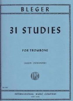 31 Studies Michel Bléger Partition Trombone - laflutedepan