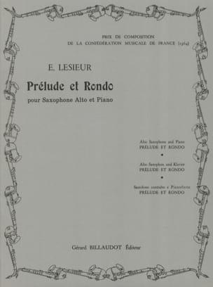 Prélude Et Rondo Emile Lesieur Partition Saxophone - laflutedepan