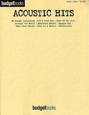 Budget books - Acoustic hits Partition Pop / Rock - laflutedepan
