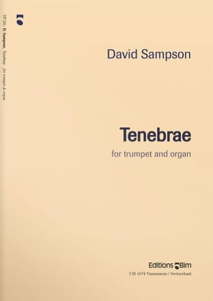 Tenebrae David Sampson Partition Trompette - laflutedepan
