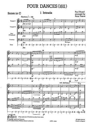 4 Dances - Quatuor de cuivres - Paul Peuerl - laflutedepan.com