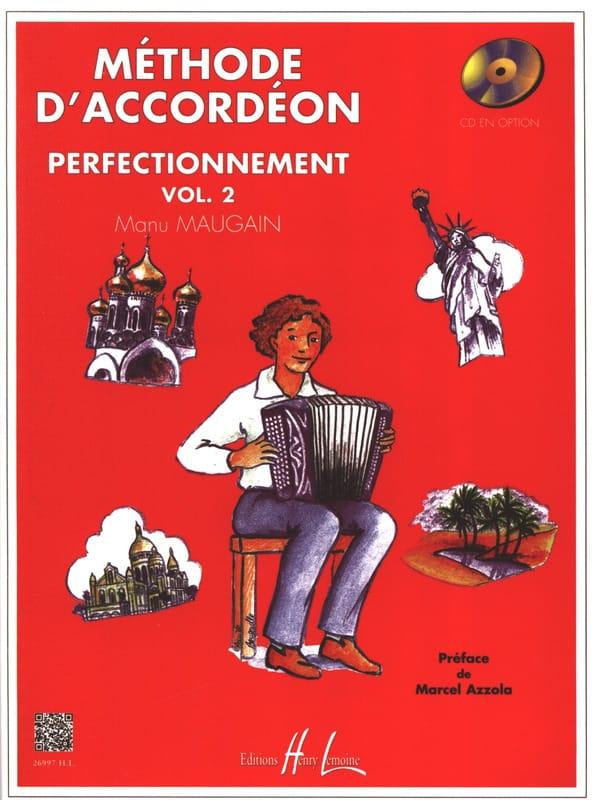 Méthode d'accordéon volume 2 - Manu Maugain - laflutedepan.com