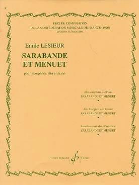 Sarabande et Menuet Emile Lesieur Partition Saxophone - laflutedepan