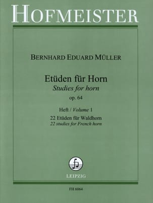 Etüden Für Horn Opus 64 Volume 1 Bernhard Eduard Müller laflutedepan