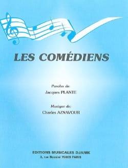Les Comédiens Charles Aznavour Partition laflutedepan
