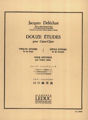 Jacques Delécluse - 12 Studien - Partition - di-arezzo.de