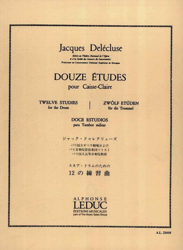 12 Etudes - Jacques Delécluse - Partition - laflutedepan.com