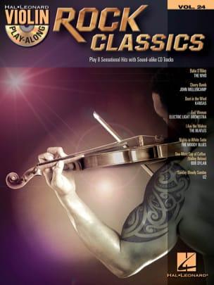 Violin play-along volume 24 - Rock classics - laflutedepan.com