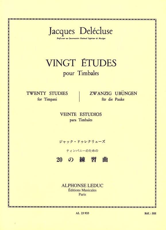 20 Etudes - Jacques Delécluse - Partition - laflutedepan.com