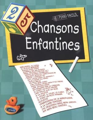 25 Chansons Enfantines - Piano Facile Partition laflutedepan