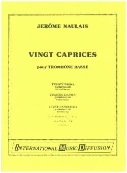 20 Caprices Pour Trombone Basse Jérôme Naulais Partition laflutedepan