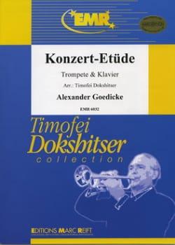 Konzert-Etüde Opus 49 Alexander Goedicke Partition laflutedepan