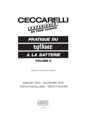 Experience - Pratique du Rythme A la Batterie Volume 2 - laflutedepan.com