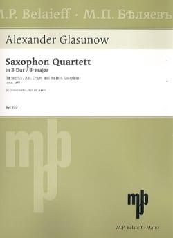 Quartett Opus 109 - Parties GLAZOUNOV Partition laflutedepan
