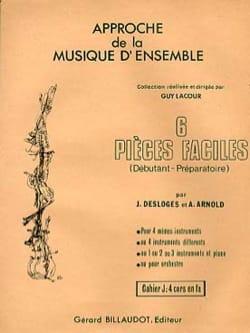 6 Pièces Faciles Volume J Desloges J. / Arnold A. laflutedepan