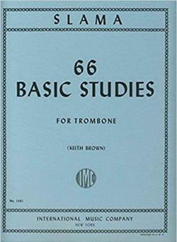 66 Basic Studies Anton Slama Partition Trombone - laflutedepan