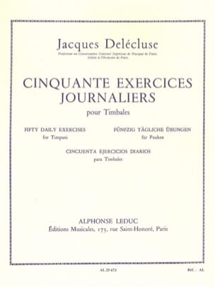 Jacques Delécluse - 50 Daily Exercises - Partition - di-arezzo.co.uk
