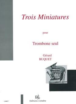 Trois Miniatures Gérard Buquet Partition Trombone - laflutedepan