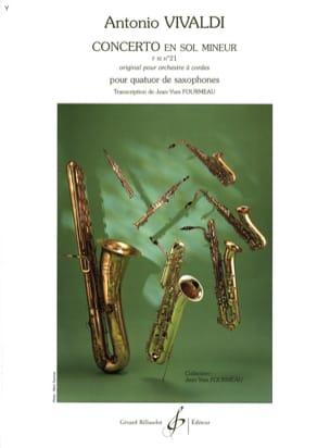 Concerto En Sol Mineur VIVALDI Partition Saxophone - laflutedepan