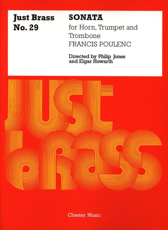 Sonata - Just Brass N° 29 - POULENC - Partition - laflutedepan.com
