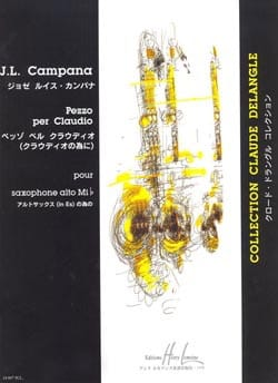 Pezzo Per Claudio Jose Luis Campana Partition Saxophone - laflutedepan