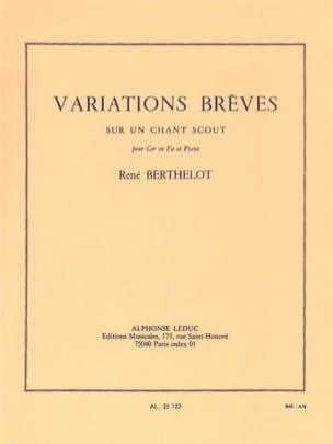 Variations brèves sur un chant scout René Berthelot laflutedepan