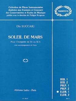 Soleil de Mars Dia Succari Partition Trompette - laflutedepan