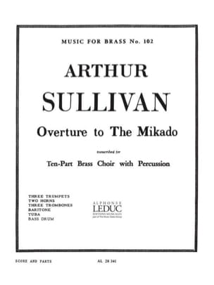 Overture to the Mikado Arthur Sullivan Partition laflutedepan