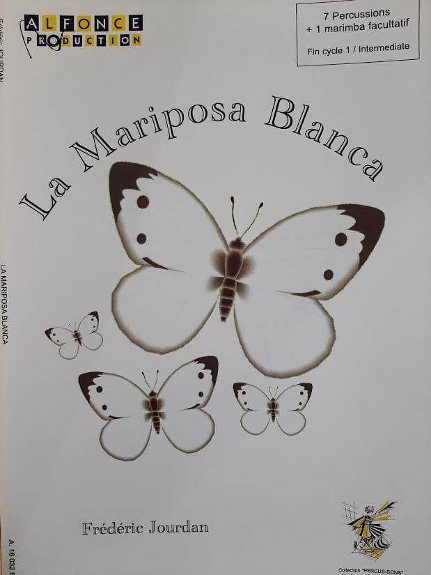 La Mariposa Blanca - Frédéric Jourdan - Partition - laflutedepan.com
