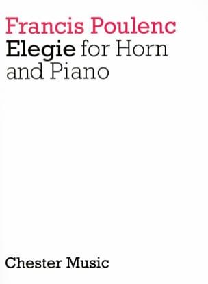 Francis Poulenc - Elegy - Partition - di-arezzo.com