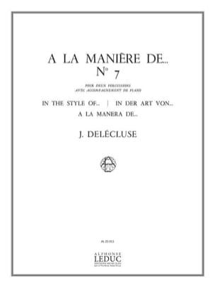 A la Manière De... N° 7 Jacques Delécluse Partition laflutedepan
