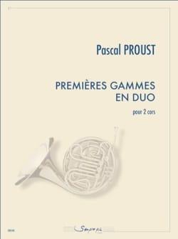 Premières gammes en duo Pascal Proust Partition Cor - laflutedepan