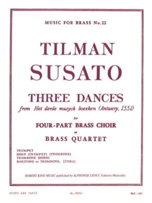 Three dances Tielman Susato Partition laflutedepan