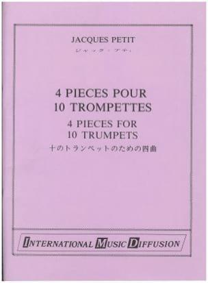 4 pièces pour 10 Trompettes Jacques Petit Partition laflutedepan