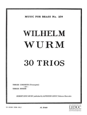 30 Trios - Wilhelm Wurm - Partition - Trompette - laflutedepan.com
