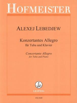 Konzertantes Allegro Alexej Lebedjew Partition Tuba - laflutedepan