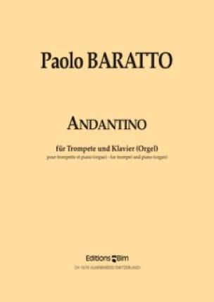 Andantino - Paolo Baratto - Partition - Trompette - laflutedepan.com