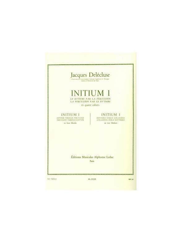 Initium 1 - Jacques Delécluse - Partition - laflutedepan.com