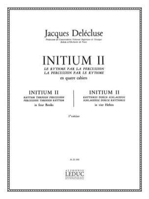 Jacques Delécluse - Initium 2 - Partition - di-arezzo.de